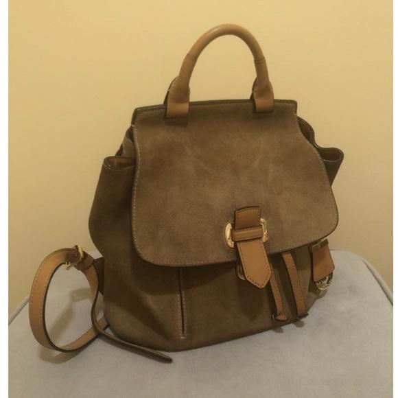 Michael Kors Handbags - Michael Kors Desert Suede drawstring backpack